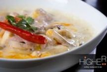Higher - Thai Food / Delicious Thai Food. Come on up - Higher Phuket, Rooftop Restaurant and Bar serves Thai, Italian, Japanese and International Food.
