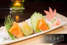 Higher - Sushi and Sashimi / Higher Phuket Rooftop Restaurant and Bar in Thailand, best food with celebrity Chef Ronnie Macuja! http://www.higherphuket.com