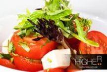 Higher - Starters, Salads and Soups / Starters, Salads and Soups at Higher Rooftop Restaurant and Bar, Phuket, Thailand.