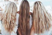 Hair / hair styles. hair color. bangs. long wavy hair.