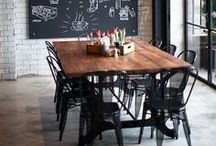 delectable dining  / Spaces made for feasting, snacking, or finishing off a bottle of vino.