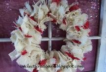 Christmas Wreaths / A variety of materials to create wreaths for Christmas.