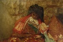 Art - Orientalism / Orientalism is a term used by art historians and literary and cultural studies scholars for the imitation or depiction of aspects of Middle Eastern, South Asian, and East Asian cultures (Eastern cultures) by writers, designers and artists from the West. / by Theresa Rankin