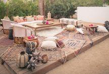 Outdoor living / Outdoor living. Backyard. Patios. Lounge areas.