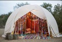 Gypsy Den / gypsy inspired cozy lounge areas.