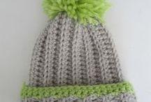 gorritos / gorros tejidos crochet y dos agujas