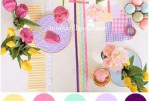 """Cores / """"Na mesa uma toalha de flores Dolores cuidou de arrumar.  Serviu numa bandeja de cores sabores pra gente provar.  Dá vontade de ficar..."""""""
