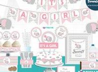 Pink Elephant Baby Shower Ideas / It's a Girl. It's time to plan a baby shower! Find the best ideas for your Girly Girl Baby Pink Elephant Baby Shower