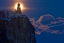 Lighthouses / These stalwart sentinels stand alone watching over the waters below and surrounding them, always welcoming beacons in the night to weary sailors. / by Marni Sinclair-Ross