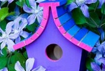 Birdhouses / Sweet, quirky, plain, elaborate, unusual... the birds don't care what they look like and don't try to compete with their neighbours! / by Marni Sinclair-Ross