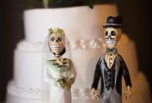 Day of the Dead weddings / Couples use Day of the Dead imagery because they like what it means. Amor Eterno ~ Eternal Love and Til Death Do Us Part are sayings with special meaning. It's a great way to celebrate life as a couple starts a new life together. It's fun, colorful and a joyous way to throw a wedding.