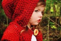 Little Red Riding Hood / The little riding hood of red velvet suited her so well that she would never wear anything else; so she was always called 'Little Red Riding Hood.' Inspirational baby clothes and styles in red.