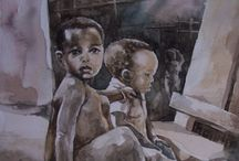 My #Art / Some of the work I have done in watercolor and oil paint media