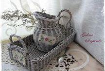 paper basket & basket