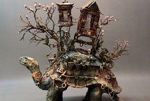 animal sculpture / 動物をモチーフにした彫刻作品