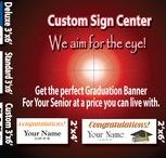 Graduation Banners, Party Ideas and More! / Stunning full color graduation banners and yard signs to pump up your party decorations or just celebrate the biggest milestone in your young student's life. Easy online tools, fast turnaround and an affordable price are all found at CustomSignCenter.com/school-specific-deluxe-gradudation-banners  If you're not in Ohio, no worries. We've got templates for everyone!