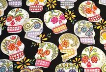 Specials on MexicanSugarSkull.com / High quality 100% cotton by Alexander Henry suited for all kinds of craft projects, quilts, shirts & PJs. For a touch of Day of the Dead in the home, use this fabric for tablecloths, pillow cases, curtains, etc.