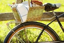 Food and Bikes / A perfect partnership.  Who doesn't like to ride their bike with a picnic on board??!!!