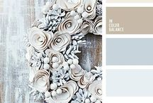 Winter wedding color palette
