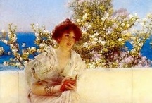 Fan of all things Lawrence Alma-Tadema / Sir Lawrence Alma-Tadema was a Dutch-born British painter of the mid to late 19th century, known for his brilliant and sensuous presentation of classical scenes.