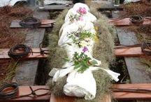 conscious death | green burial / alternative death practices. eco caskets + shrouds. urns. diy coffins