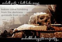 death haiku-senryū | freeverse / poetry on death, preexistence & the soul | soulmilkhealingarts.com/poetry #nationalpoetrymonth #death #poetry