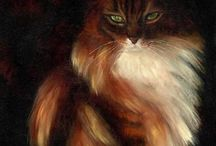 2 My cat paintings / Mostly daily paintings - some commissions - of cats, painted in oils. More on my website www.petportraitsbykaren.com
