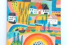 Art Inspiration / Illustration, folk art, modern