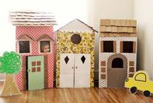 Reuse and Recycle / Recycled Cardboard, kids play, reduce, reuse, recycle, kids craft