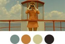 Wes Anderson / Color Interpretations / Wonderful marriage of color & commentary via http://wesandersonpalettes.tumblr.com/