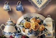 TeaCup Art and Charm / Charming drawings and pictures of teatime. / by Carolyn K. Knefely