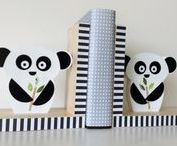 Panda Inspired / Eco-friendly, kids decor, Maple Shade Kids, panda, panda baby nursery, panda kids decor