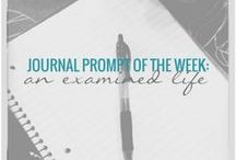 Journal Prompts of the Week / Follow along for weekly journal prompts to inspire your journal practice. Set a timer and journal for just 10 minutes a day.