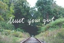 Intuition / Words to help you trust your gut and embrace your own inner-knowing.