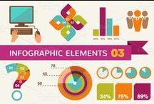 Elementi in Infografica / Una raccolta di elementi in infografica per prendere spunto per il proprio curriculum vitae infografico. Istogrammi, grafici, timeline, elenchi, processi, cicli, gerarchie, relazioni, matrici, piramidi, diagrammi..