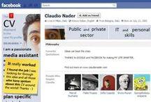 Cv sui Social o in eCommerce / Raccolta di cv infografico in stile facebook, twitter, amazon, google.