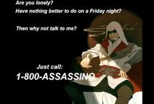 1-800-Assassino / Assassins Creed (Just get ready for lots of Connor and Haytham humor.) / by Samantha Morton