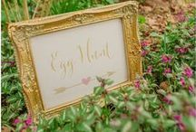 Easter with Vintage Flair / Easter and spring-garden inspired shoot featuring stationery by Russet & Gray. Styled by Vintage Flair with photography by Kerrie Mitchell Photography and featured on Want That Wedding blog.