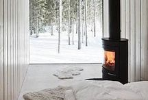 Wood Burning Stoves / Checking out the variety of wood burning stoves to keep us warm while we dream.