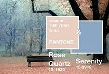 • PANTONE • Colour of the Year '16 / A softer take on color for 2016: For the first time, the blending of two shades – Rose Quartz and Serenity are chosen as the PANTONE Color of the Year - and we're totally obsessing over it!