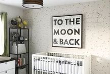 Black and White Kids Decor / trending monochrome nursery, black and white nursery, black and white kids decor, black and white room decoration