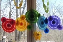 rainbows and pinwheels