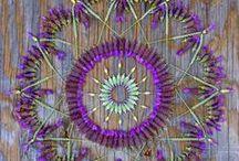 Mandalas / Mandala (Sanskrit: मण्डल Maṇḍala, 'circle') is a spiritual and ritual symbol in Hinduism and Buddhism, representing the Universe.