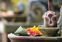 small spiritual spaces / creating spiritual focal points in your home - ideas and inspiration