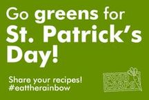 Greens for St. Patrick's Day / St. Patrick's Day is just another reason to get your healthy greens in! #eattherainbow