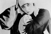 MAKEUP AND COSTUMES FROM THE SILENT FILMS AND EARLY TALKIES / The makeup in SILENT MOVIES and  early TALKIES was usually over the top exaggerated. I love the eye makeup, hairdos, costumes, and all those CRAZY hats!  / by Jan Hardy