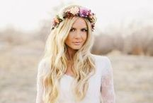Bridal floral crowns / I love them! I definitely want to wear one on my wedding day. :)