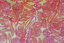 My Hand Printed Fabric / A collection of my Hand printed fabric