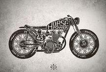 ilustrações carros e motas