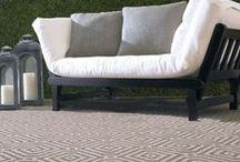 Outdoor Rugs / Rugs perfect for outdoors because they are UV protected, and able to withstand the elements.